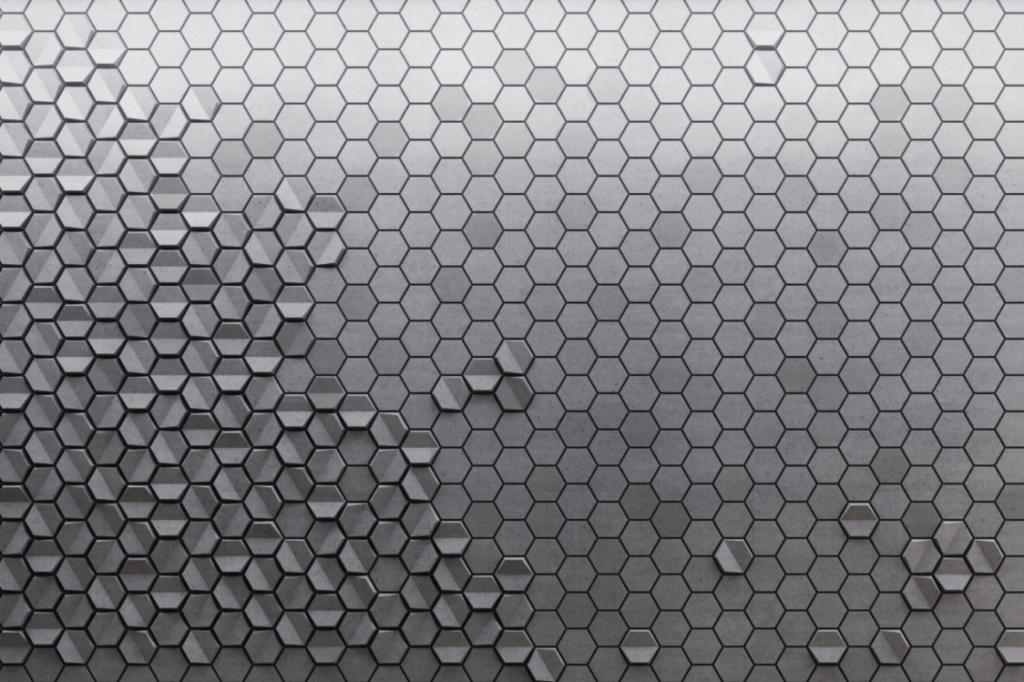 HEXO 2 i HEXO P - linia TEKT Concrete - MILKE - wizualizacja
