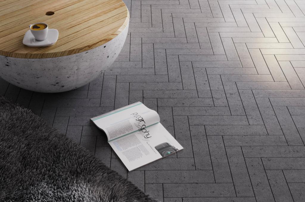 PLANK P - linia TEKT Concrete - MILKE - wizualizacja