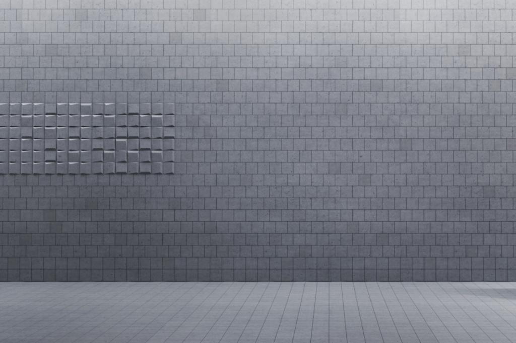 SQR mini P - linia TEKT Concrete - MILKE - wizualizacja