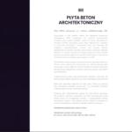 PŁYTA BETONOWA - karta katalogowa