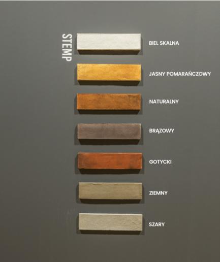 STEMP - plytka MILKE - warianty kolorystyczne