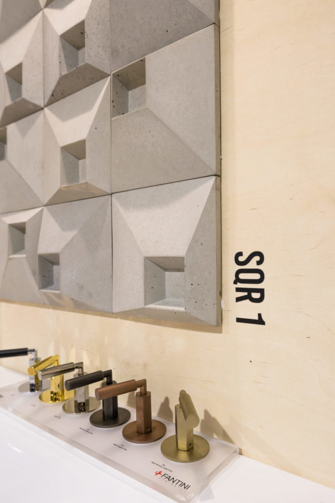 Stoisko MILKE i TEKT Concrete na targach Warsaw Home 2019 - kafle SQR 1