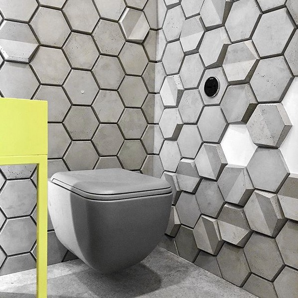 Kafle HEXO - TEKT Concrete - La MIZA Architekci